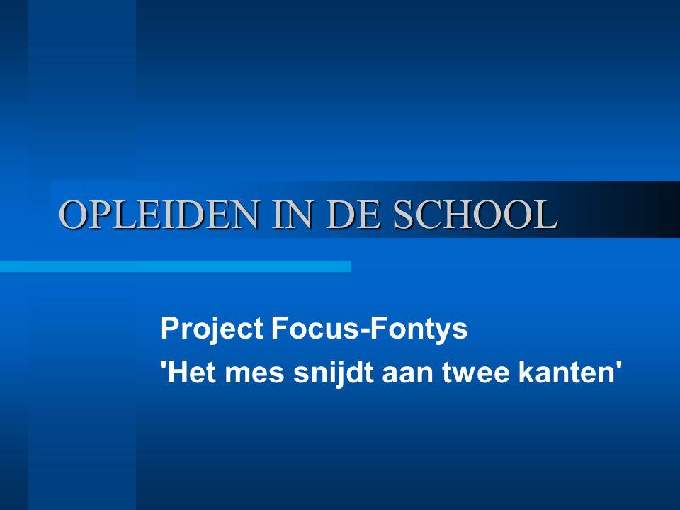 Aandachtspunten Scholing Zelfsturing van DP's Meerdere studenten op één school Visie ontwikkelen: Drietal studiemiddagen projectgroep Gezamenlijk = op