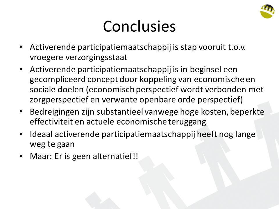 Conclusies Activerende participatiemaatschappij is stap vooruit t.o.v.