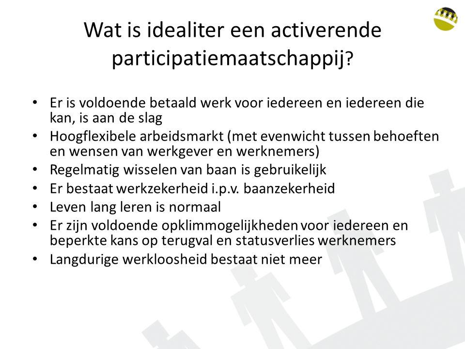 Wat is idealiter een activerende participatiemaatschappij .