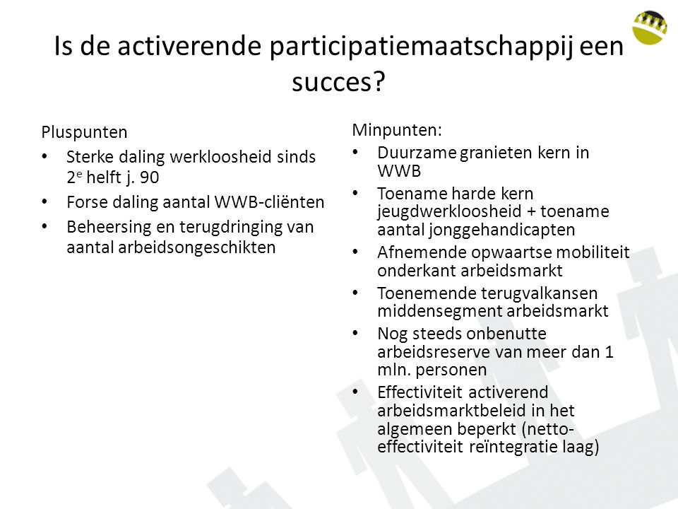 Is de activerende participatiemaatschappij een succes.