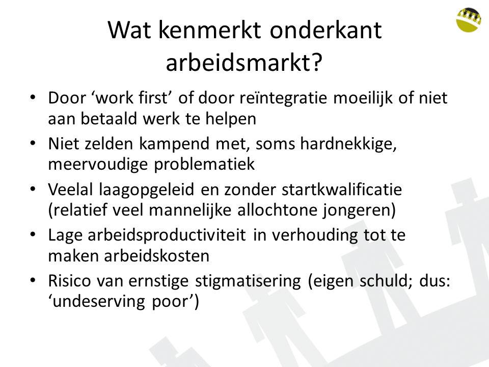 Wat kenmerkt onderkant arbeidsmarkt.