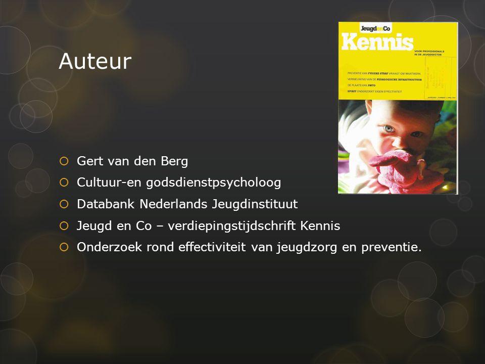 Artikel  Van den Berg, G.(2010). Hulpverlening weet migrantenjeugd slecht te vinden.