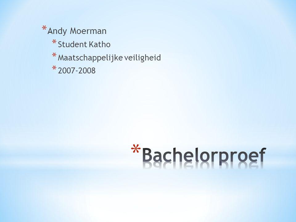 * Andy Moerman * Student Katho * Maatschappelijke veiligheid * 2007-2008
