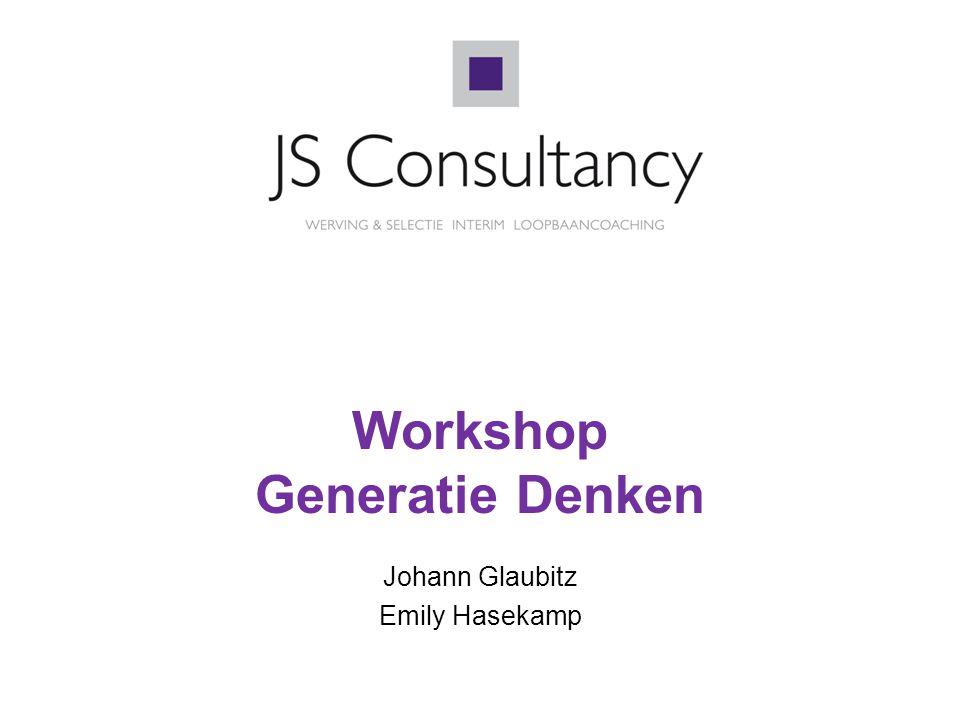 2 Generatie =  '…het product van ontwikkelingen in de samenleving en de opvoeding.'  Mensen die in dezelfde tijdgeest opgroeien delen kenmerkende waarden en opvattingen.