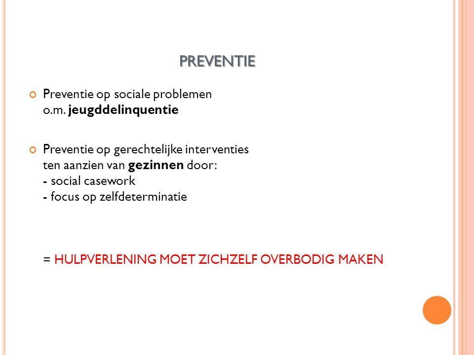 PREVENTIE Preventie op sociale problemen o.m.