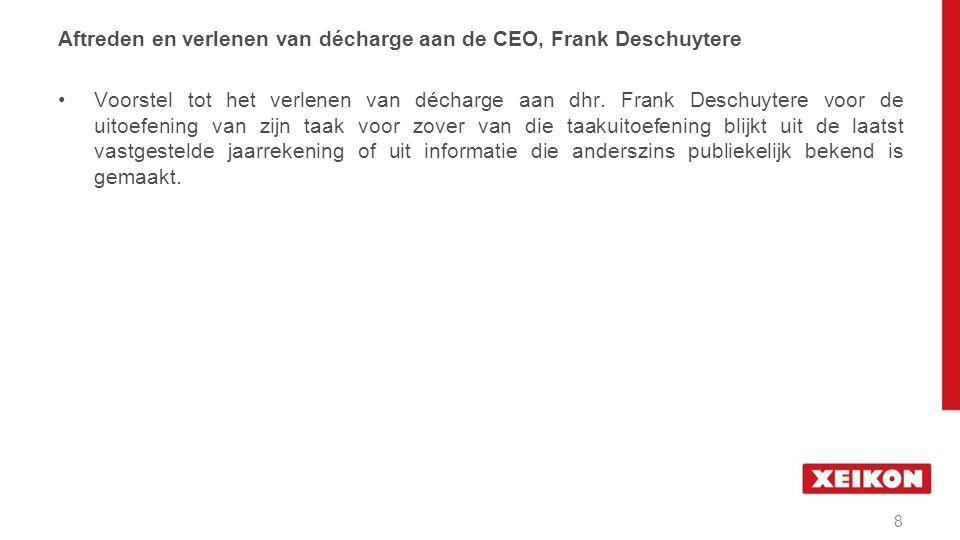 Benoeming van de CEO, Wim Maes