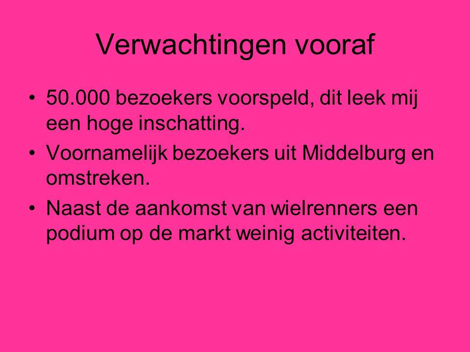 Verwachtingen vooraf 50.000 bezoekers voorspeld, dit leek mij een hoge inschatting. Voornamelijk bezoekers uit Middelburg en omstreken. Naast de aanko