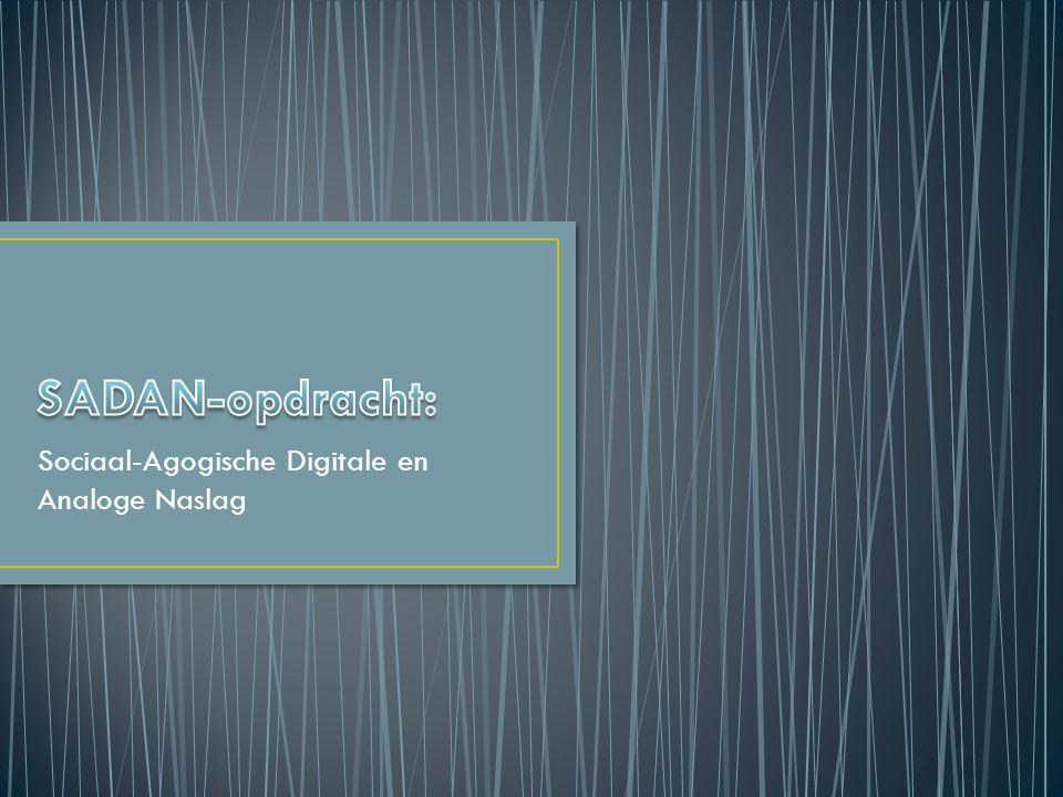 Sociaal-Agogische Digitale en Analoge Naslag