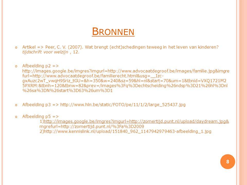B RONNEN Artikel => Peer, C.V. (2007).