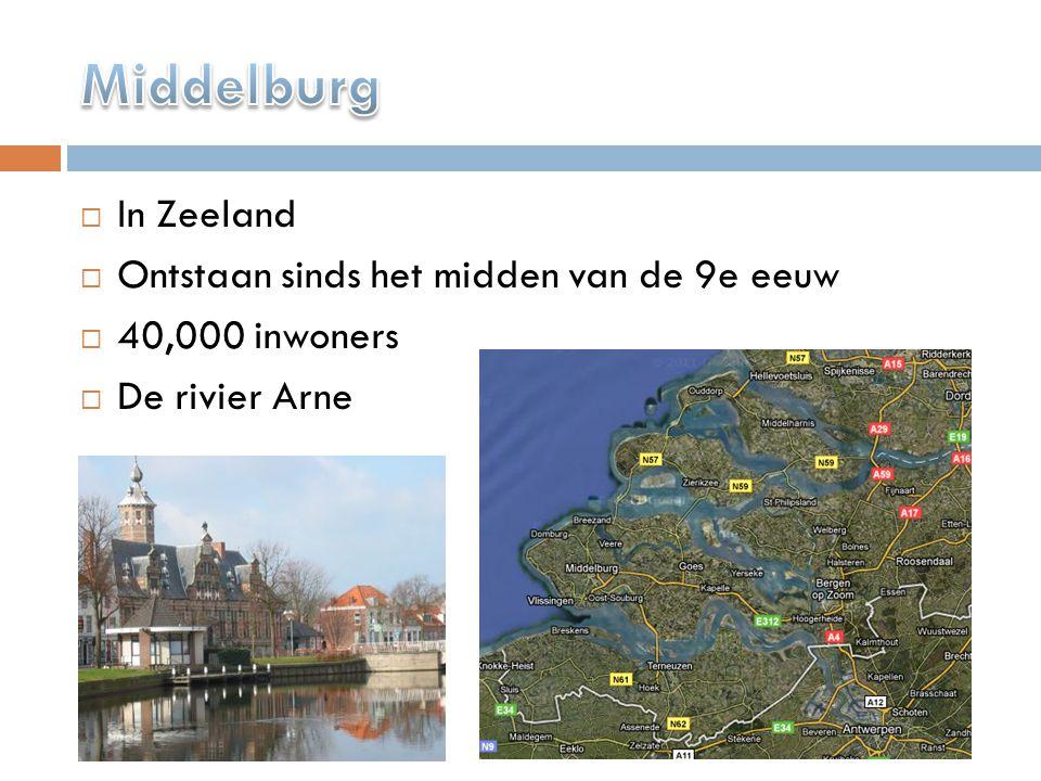  In Zeeland  Ontstaan sinds het midden van de 9e eeuw  40,000 inwoners  De rivier Arne