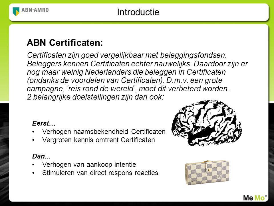 Introductie ABN Certificaten: Certificaten zijn goed vergelijkbaar met beleggingsfondsen.