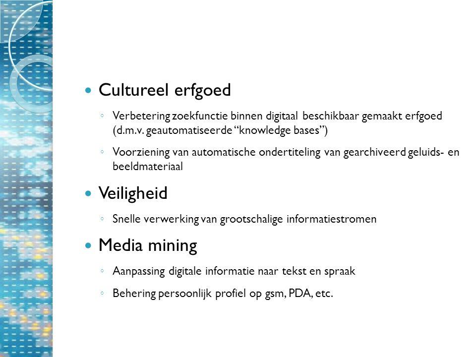 Cultureel erfgoed ◦ Verbetering zoekfunctie binnen digitaal beschikbaar gemaakt erfgoed (d.m.v.