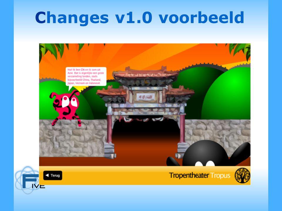 Changes v1.0 voorbeeld