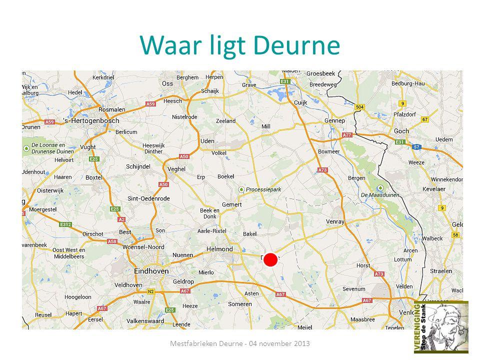 Waar ligt Deurne Mestfabrieken Deurne - 04 november 2013