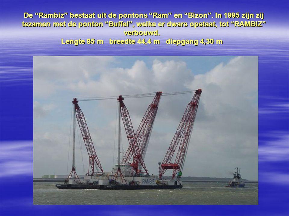 De Rambiz bestaat uit de pontons Ram en Bizon .