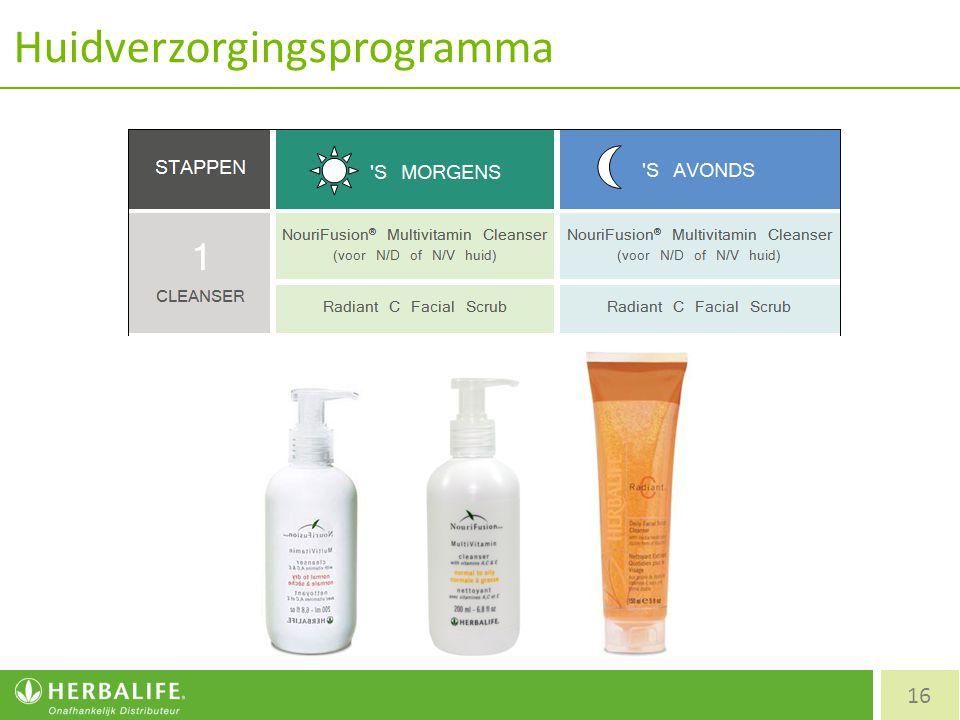 Huidverzorgingsprogramma 16