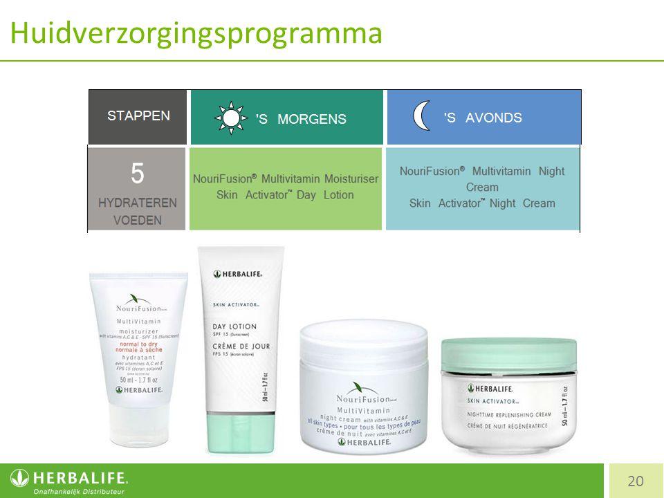Huidverzorgingsprogramma 20