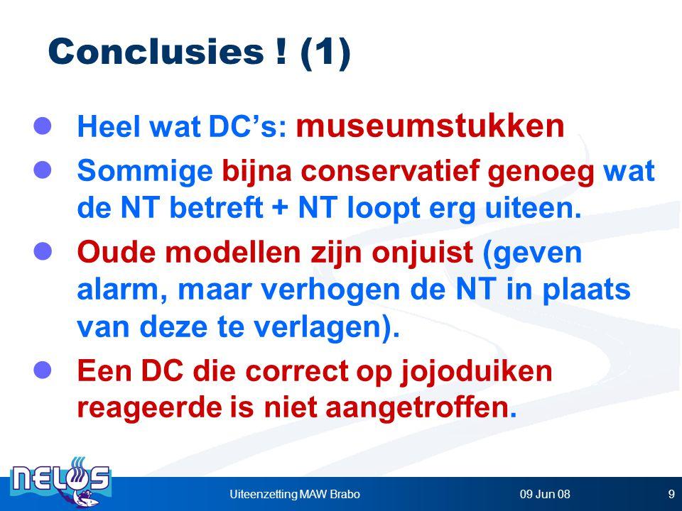 09 Jun 08Uiteenzetting MAW Brabo9 Heel wat DC's: museumstukken Sommige bijna conservatief genoeg wat de NT betreft + NT loopt erg uiteen.
