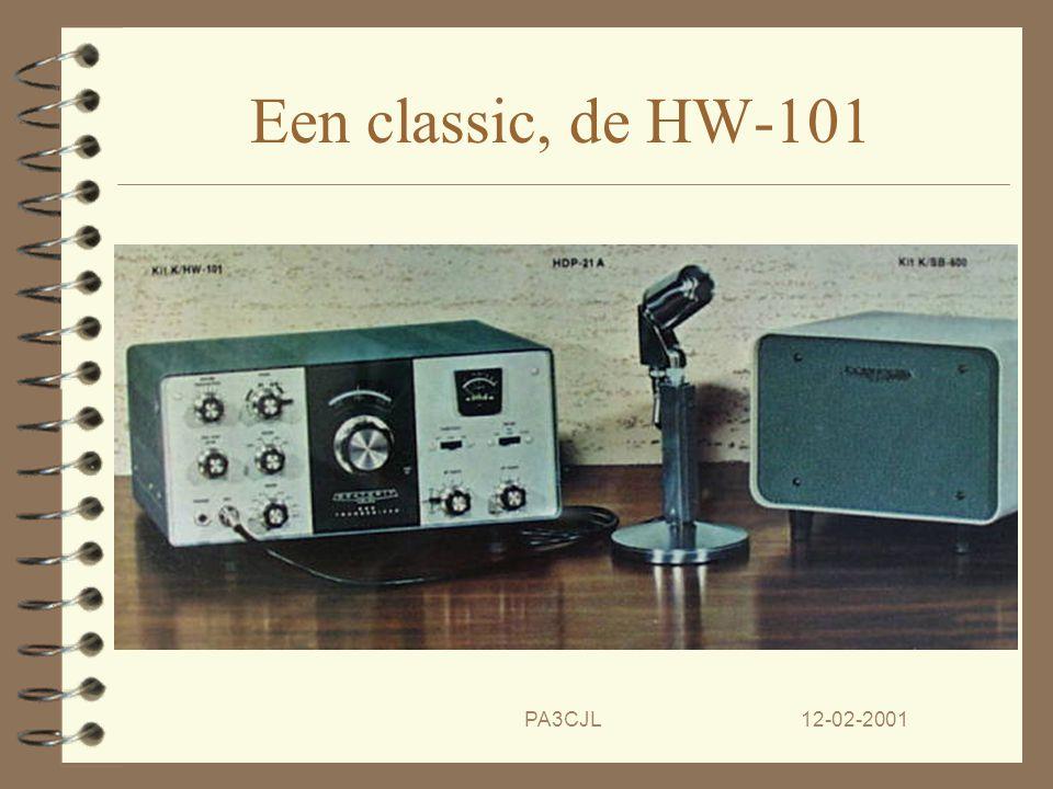 12-02-2001PA3CJL Een ongekend kassucces 4 In 1968 komt Heathkit met een andere TRX de 'Hot Water 100'. 4 En in 1970 volgt dan de HW101 'Need I say mor