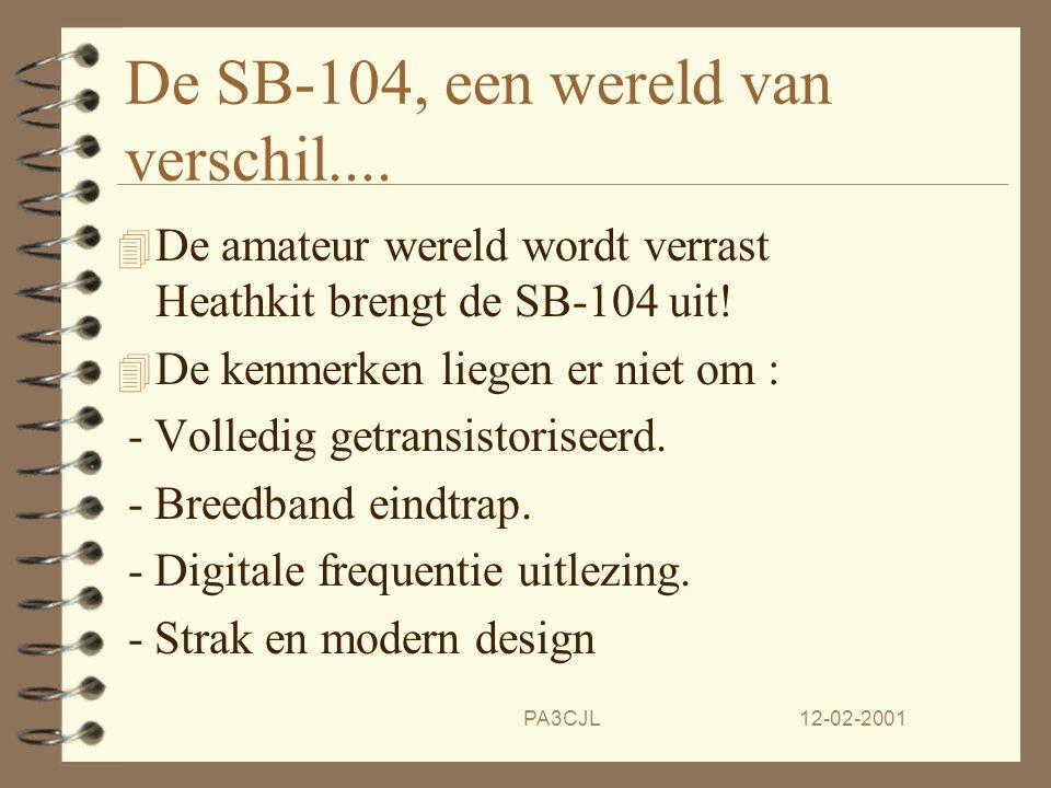 12-02-2001PA3CJL De ellende begint... 4 De steeds grotere bouwpakketten vergen steeds meer onderdelen en ook steeds grotere problemen met onderdeel-to