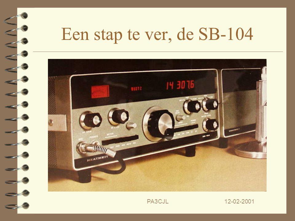 12-02-2001PA3CJL De SB-104, een wereld van verschil.... 4 De amateur wereld wordt verrast Heathkit brengt de SB-104 uit! 4 De kenmerken liegen er niet