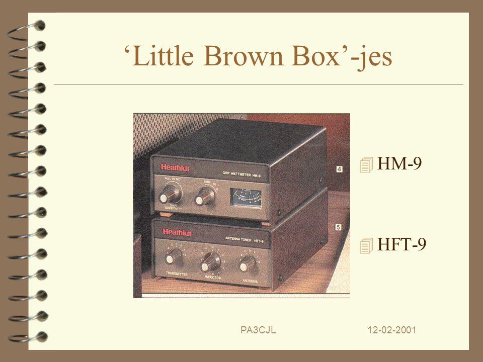 12-02-2001PA3CJL Wat laatste stuiptrekkingen 4 Men probeert nog wat met de 'Little Brown Box' series, zoals de HW-9.