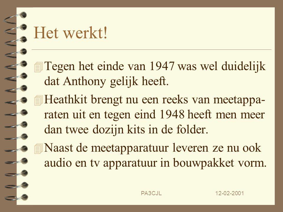 12-02-2001PA3CJL Een ongekend kassucces 4 In 1968 komt Heathkit met een andere TRX de 'Hot Water 100'.