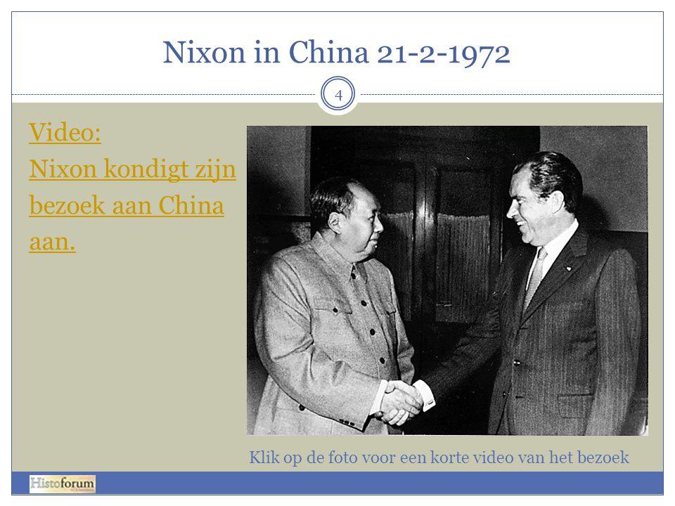 Nixon in China 21-2-1972 4 Video: Nixon kondigt zijn bezoek aan China aan.