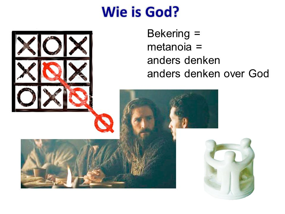 Bekering = metanoia = anders denken anders denken over God