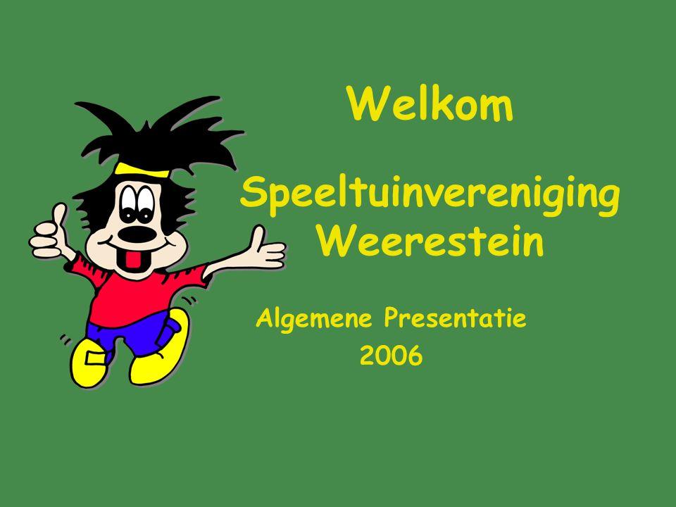 Welkom Speeltuinvereniging Weerestein Algemene Presentatie 2006
