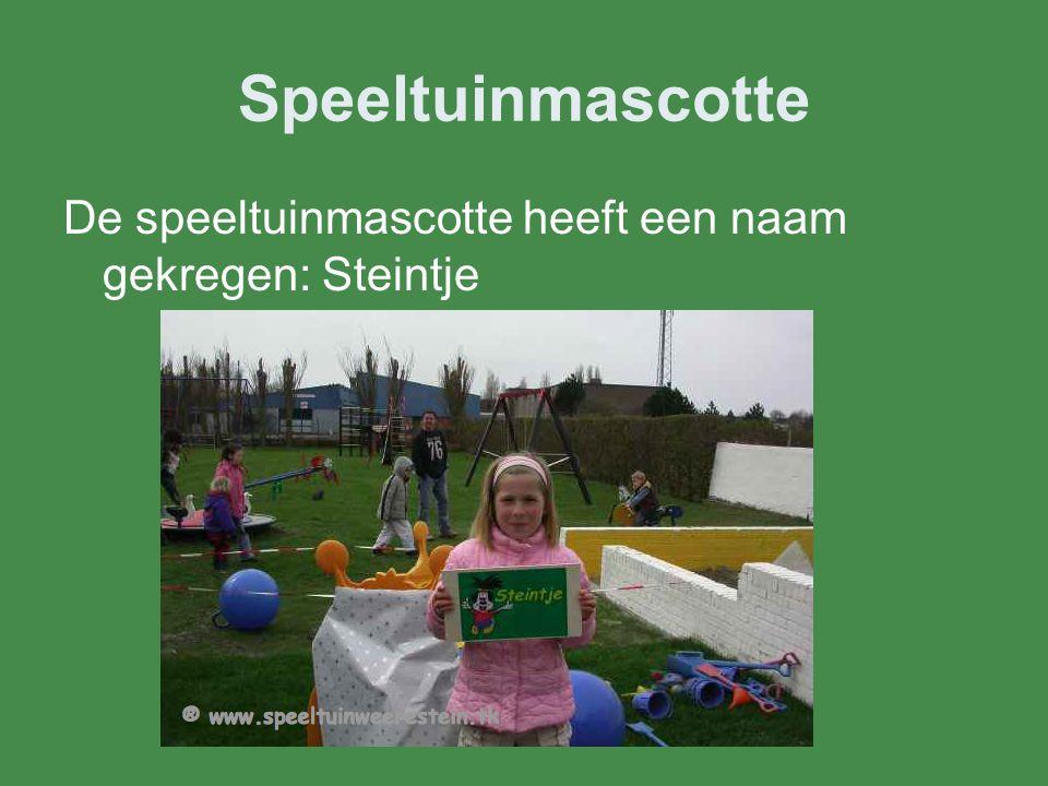 Speeltuinmascotte De speeltuinmascotte heeft een naam gekregen: Steintje