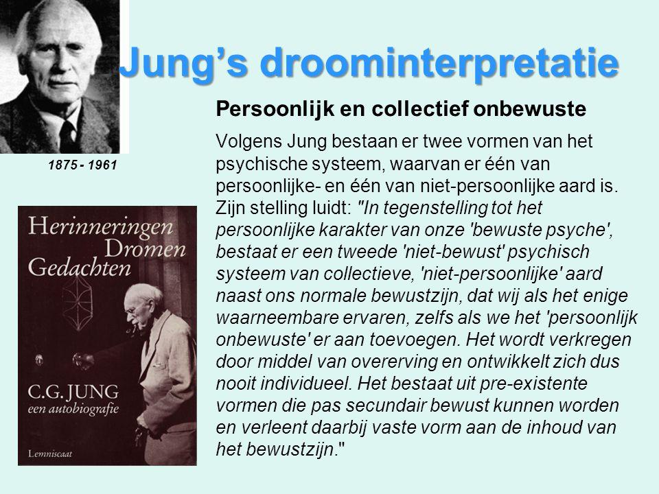 Persoonlijk en collectief onbewuste Volgens Jung bestaan er twee vormen van het psychische systeem, waarvan er één van persoonlijke- en één van niet-p