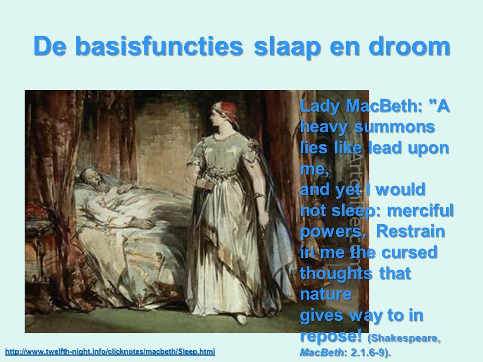 De basisfuncties slaap en droom Lady MacBeth: