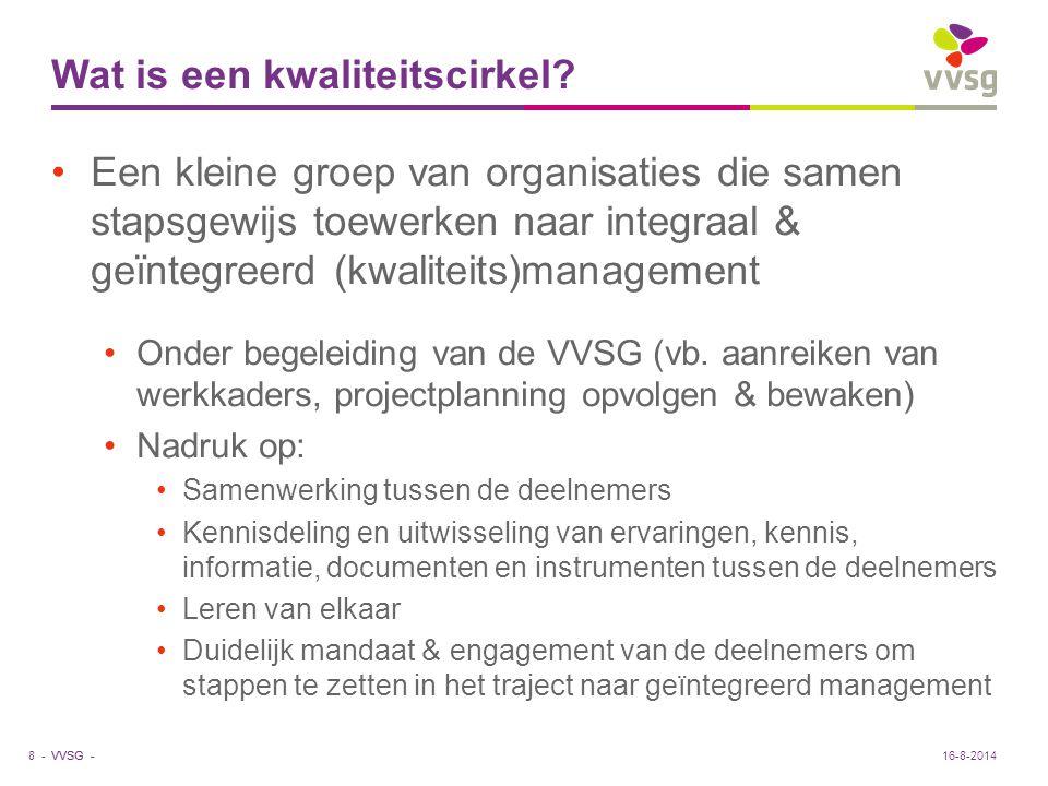 VVSG - Wat is een kwaliteitscirkel.
