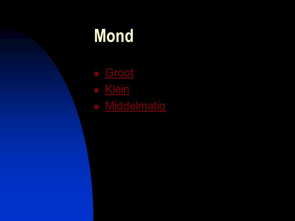 Mond Groot Klein Middelmatig