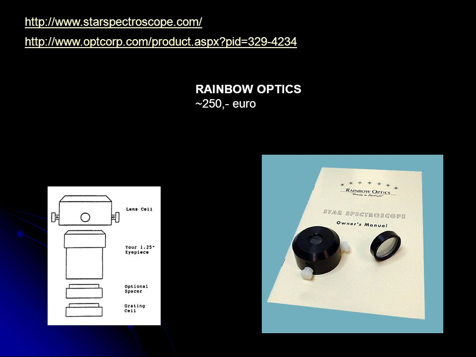 http://www.starspectroscope.com/ http://www.optcorp.com/product.aspx?pid=329-4234 RAINBOW OPTICS ~250,- euro
