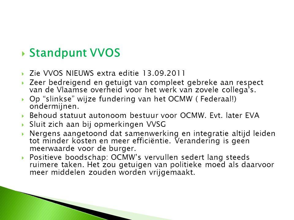  Standpunt VVOS  Zie VVOS NIEUWS extra editie 13.09.2011  Zeer bedreigend en getuigt van compleet gebreke aan respect van de Vlaamse overheid voor