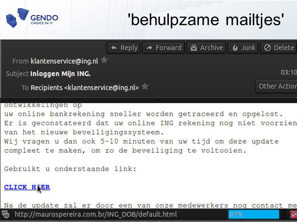 'behulpzame mailtjes'
