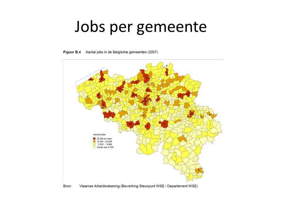 Jobs per gemeente