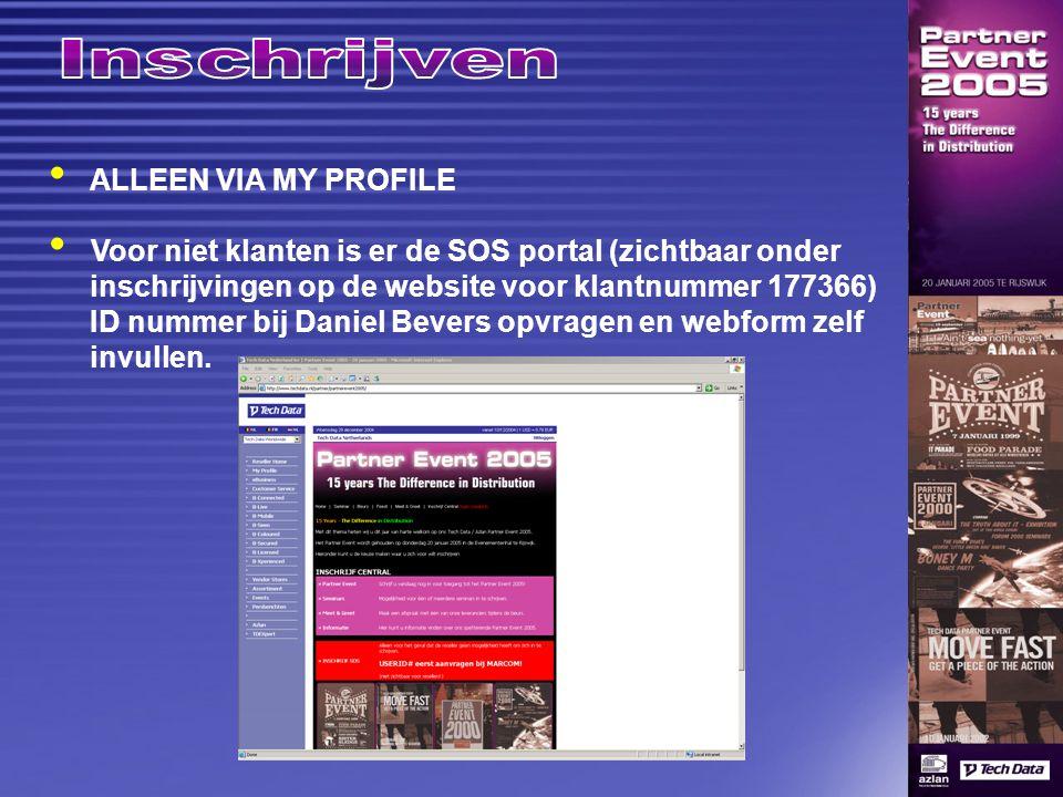 www.techdata.nl/partnerevent Uitnodigingsmails (1 e verstuurd op 28-12) iedere week 1 emailshot week van PE 2 emailshots Advertentie in CRN (13 januari) Advertentie in Computer Partner (11 januari)