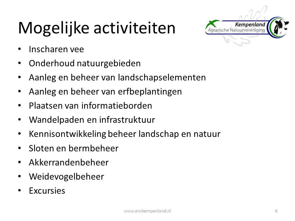 ANV coördinerende functie Agrariers en burgers betrekken bij uitvoer 7www.anvkempenland.nl