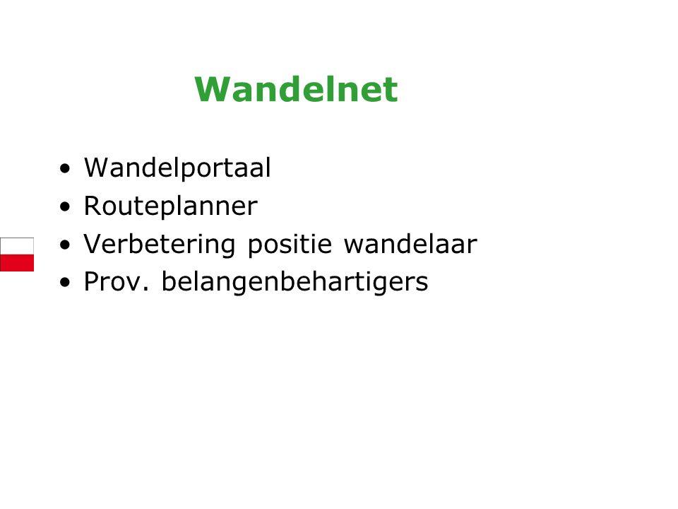 Wandelnet Wandelportaal Routeplanner Verbetering positie wandelaar Prov. belangenbehartigers