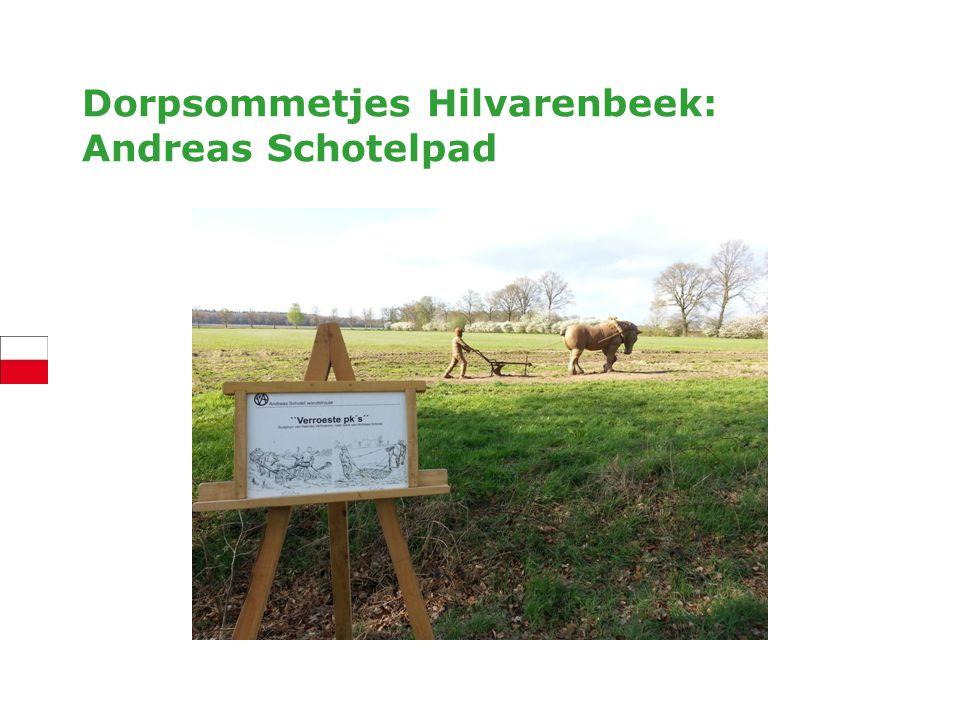 Dorpsommetjes Hilvarenbeek Iedere kern een ommetje Opgepakt door VVV en dorpsraden Suggestie: andere gemeenten, maar ook voor ondernemers
