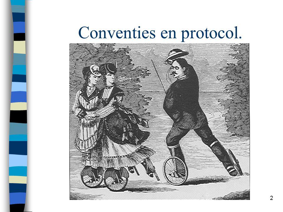 2 Conventies en protocol.