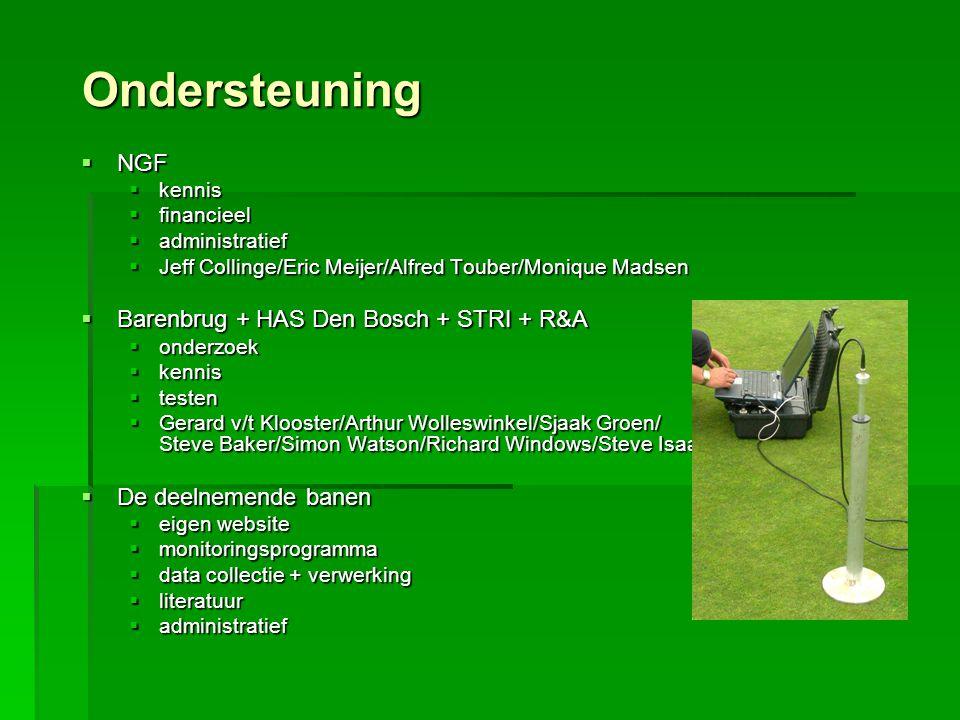 Grasbestand en aantastingen  Grassamenstelling  Wortellengte  Ziektes (schimmelaantastingen)  Plagen (dierlijke aantastingen)