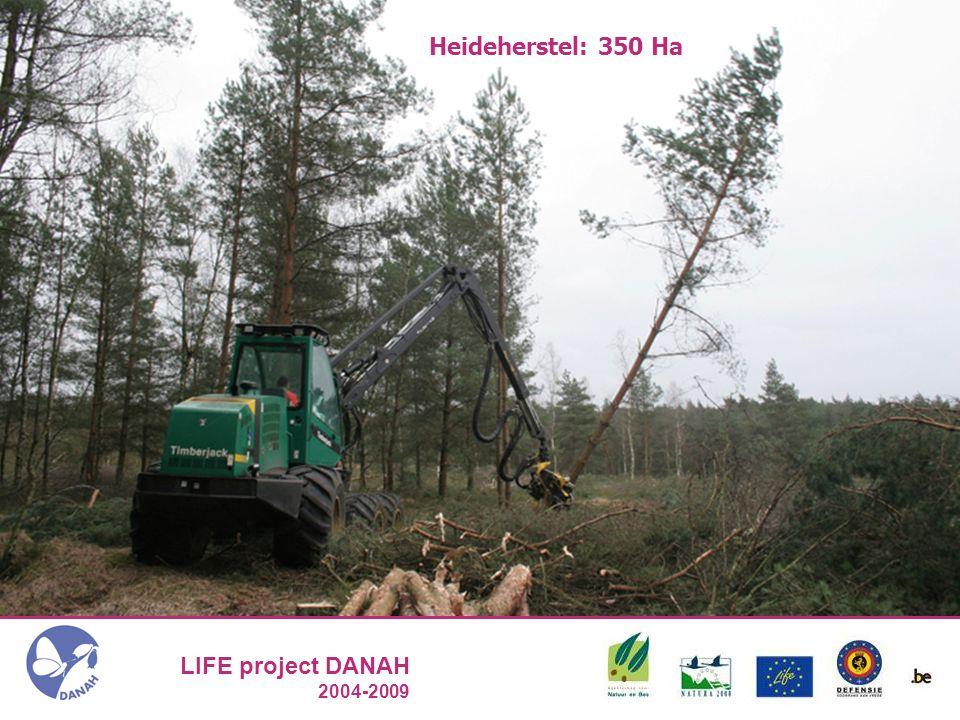 LIFE project DANAH 2004-2009 Heideherstel:350 Ha