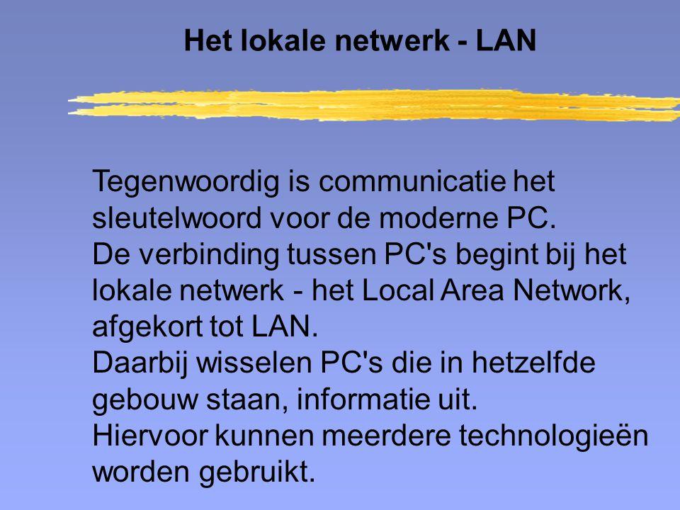 Tegenwoordig is communicatie het sleutelwoord voor de moderne PC. De verbinding tussen PC's begint bij het lokale netwerk - het Local Area Network, af