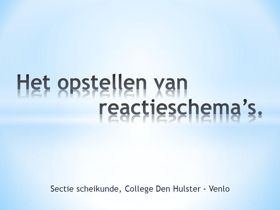Sectie scheikunde, College Den Hulster - Venlo