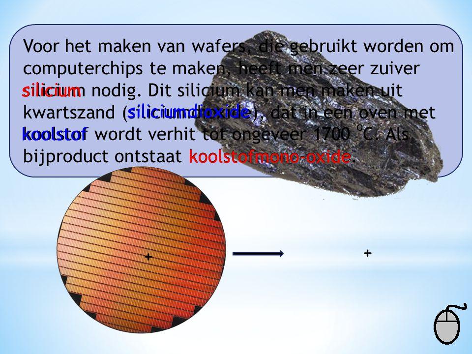 Voor het maken van wafers, die gebruikt worden om computerchips te maken, heeft men zeer zuiver silicium nodig. Dit silicium kan men maken uit kwartsz