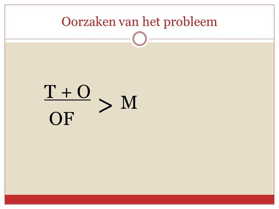 Oorzaken van het probleem T + O OF > M